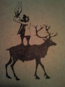 reindeer lamp